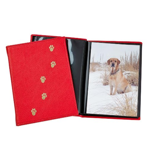 Pet Brag Book, Genuine Italian Leather, Holds 20