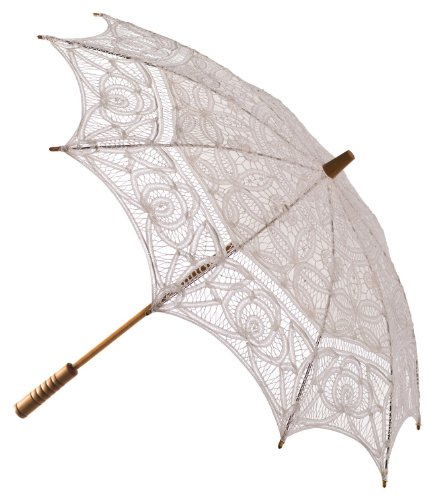 The 1 For U Women's Victorian Lace Parasol Ivory/Cream by The 1 for U
