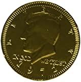 Chocolate Kennedy Half Dollar Gold Coins - 1 1/2 LB