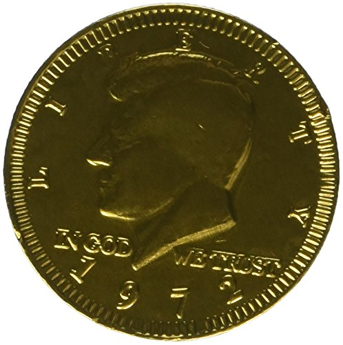 Chocolate Kennedy Half Dollar Gold Coins - 1 1/2 LB (Chocolate For A Dollar)