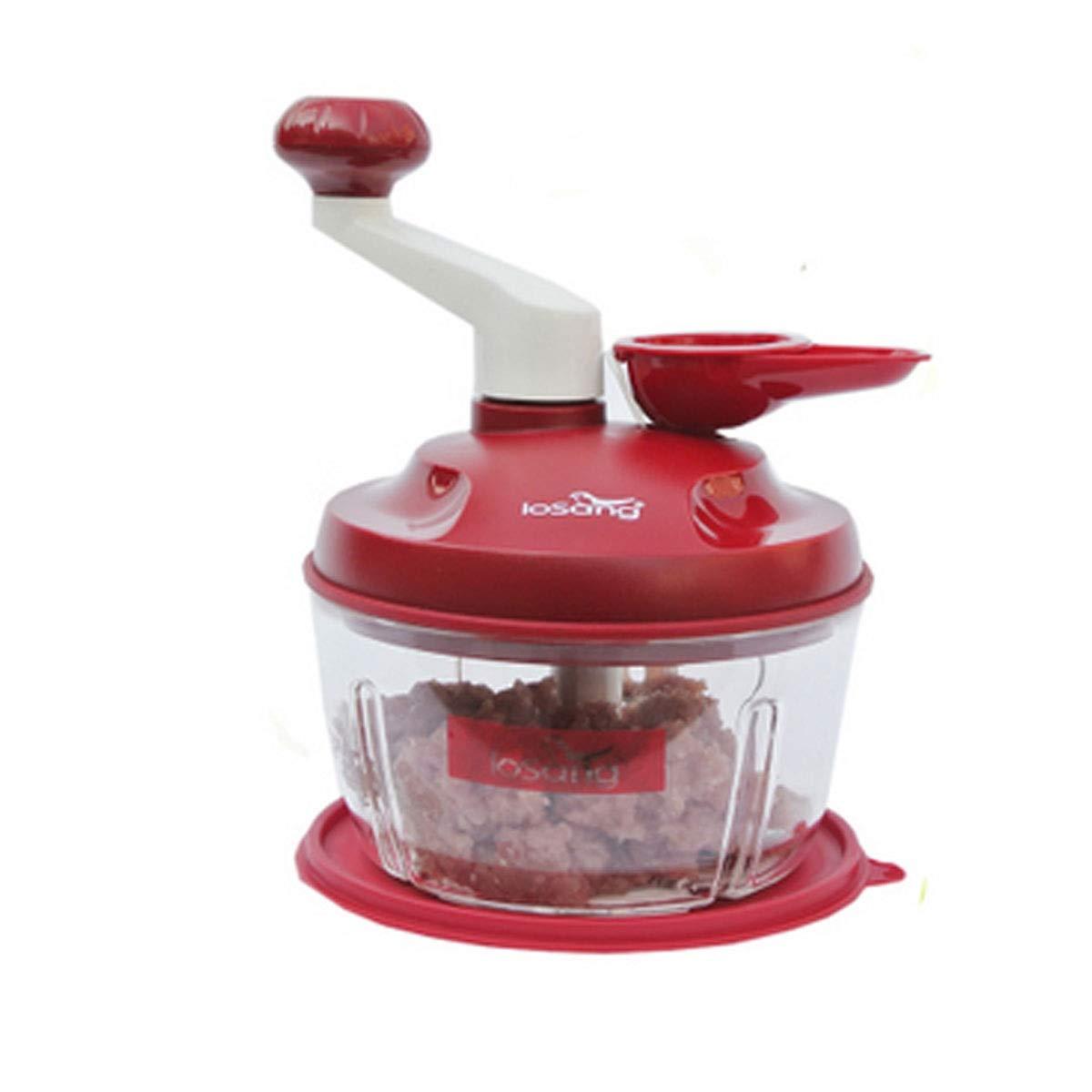 amazon Kaiyitong Chopper, coupeur de légumes, coupeur de légumes pour la cuisine à domicile, adapté à la viande, légumes, fruits et noix, 23 * 15cm La mode (Color : Red, Style : A01) pas cher prix