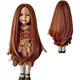 "New arrival 16.14'' Straight Long Bottom Curls Reddish Blended Colors Wigs for 18""Height American Doll Girl.Wigs Only!"
