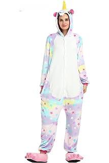 Amazon iszeyu unicorn costume adult onesies for women girls laizi magical adult unicorn onesie pajamas for christmas costume and sleepwear solutioingenieria Image collections