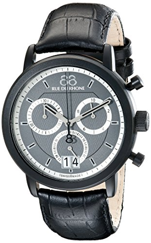 88-Rue-du-Rhone-Mens-87WA130021-Analog-Display-Swiss-Quartz-Black-Watch