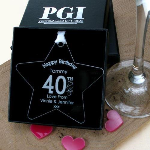 Mens 40th Birthday Gift Star Decorations Keepsake Memento Amazoncouk Kitchen Home