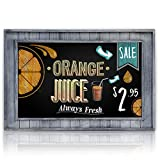 Large Decorative Chalkboard Framed with Rustic Gray Inset Frame | 20'' x 30'' | Wall Mount for Restaurant Menu or Kitchen Decor | Large Writing Area for Memos, Lists, Menus & More!
