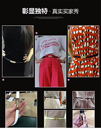 Uf Moda Decorate Decorativi Cintura Donne Abiti Semplice Cintura Multa Con Pelle EzqwA