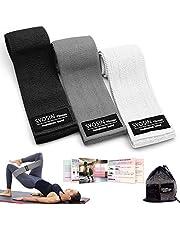 SYOSIN Fitnessbänder, [3er Set] Widerstandsbänder Set Loop-Band für Hüften und Gesäß, 3 Widerstandsstufen für Hintern, Beine und Ganzkörpertraining, Resistance Hip Bands