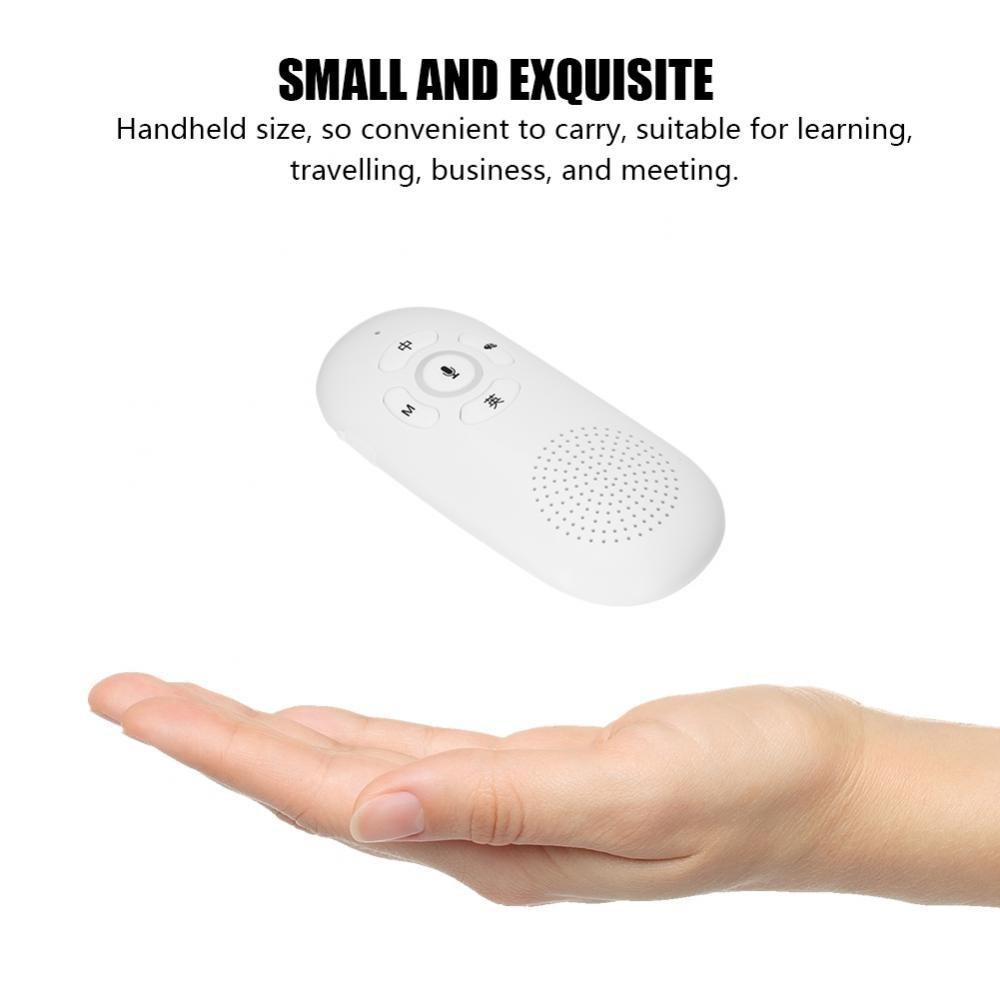 fosa Smart Chinese-English Wifi& Bluetooth Language Translator Device, Mini Handheld Pocket Real-Time Voice Translation for Learning Travelling Shopping