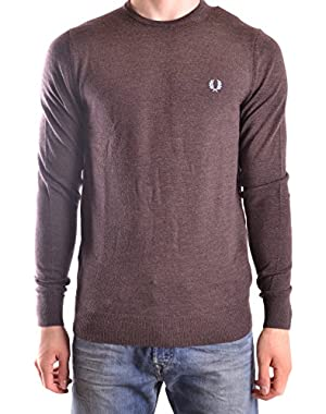 Men's MCBI128185O Brown Wool Sweater