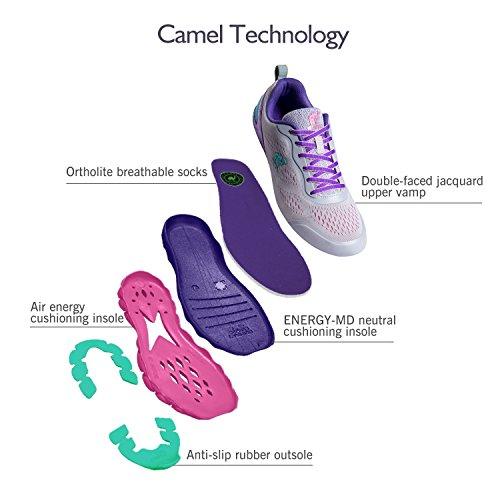 Antidrapantes Mesdames De Baskets Chaussures Pourpre Course Respirant Lger Chameau Plein Fitness Trail Pour Gym Air Sports 0dwqUd