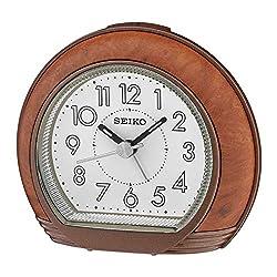 Seiko Clocks DESPERTADOR Analog Japanese Quartz Alarm Clocks of Plastic QHE154Z