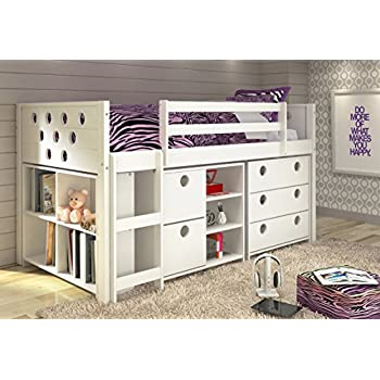 Amazon Com Twin Circles Modular Low Loft Bed In White