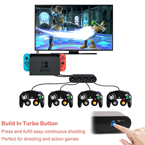 Defway Switch Gamecube Controller Adapter, Wii-U Gamecube Adapter for Super  Smash Bros Ultimate, GC Controller Adpater for PC, with 4 Player Ports,