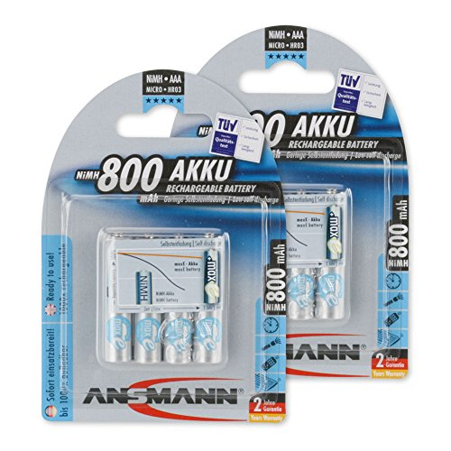 ANSMANN maxE AAA Rechargeable Batteries 800mAh Low Self Discharge