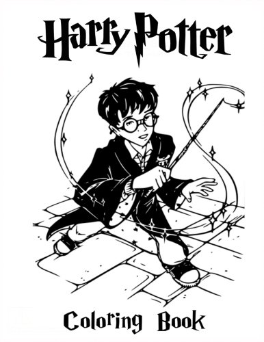 Harry Potter Coloring Book: Coloring Book for Kids and Adults 35 illustrations (Perfect for Children Ages 3-5, 6-8, 8-12+)