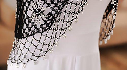 Sera Hollow Corto Crochet Manica Corta Cardigan Semplice Top Moda Nero Elegante Glamorous Giubbotto Bolero Banchetto Cerimonia Vintage Donna Da Da Pqq5Z
