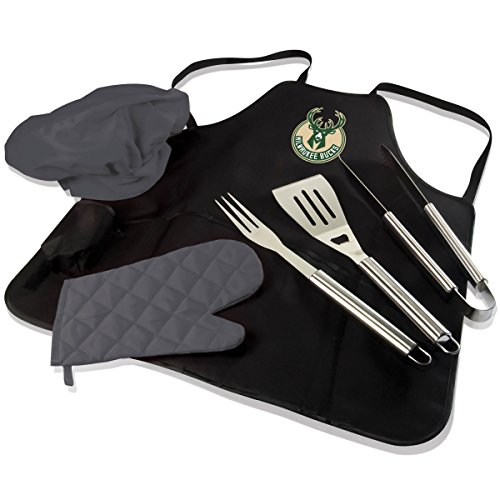 NBA Milwaukee Bucks BBQ Pro Tote, Black