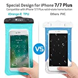 Waterproof Case, 4 Pack Veckle Floating Waterproof Cell Phone Pouch Universal TPU Clear Water Proof Dry Beach Bag for iPhone X 8 7 6S 6 Plus, Samsung Galaxy S9 S8 S7 S6, Note 5, Black White Blue Pink