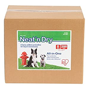 "IRIS Neat 'n Dry Premium Pet Training Pads, Regular,  17.5"" x 23.5"", 200 Count 93"