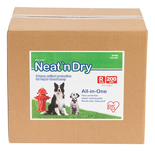 IRIS Neat 'n Dry Premium Pet Training Pads, Regular,  17.5