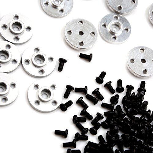 Horn Eyelets - Damper Stepper - 10x Metal Servos Mount Aluminum 25t Servo Arm Round Type Disc Matal Horns Mg995 Mg996 Futaba Ace - Continuous Extender Pushrod Eyelets Interference Connectors Featherwing