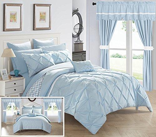 Chic Home 20 Piece Jacksonville Bedding Set, King, Blue ()