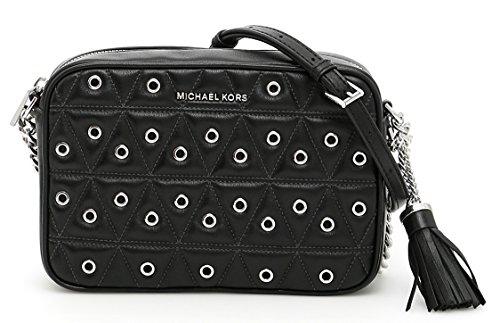 michael kors black quilted bag - 7