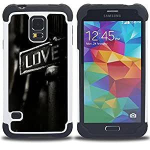 - GRITTY LOVE - - Doble capa caja de la armadura Defender FOR Samsung Galaxy S5 I9600 G9009 G9008V RetroCandy