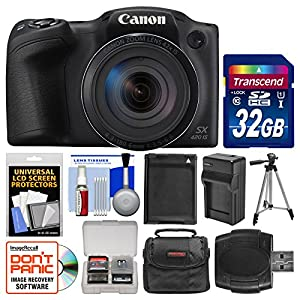 Canon PowerShot SX420 is Wi-Fi Digital Camera with 32GB Card + Case + Battery & Charger + Tripod + Kit