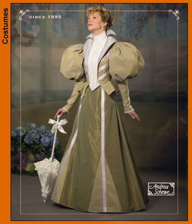 1895 Costumes (Simplicity 4156 Sew Pattern MISSES' COSTUME 19th Century Gown 1895)