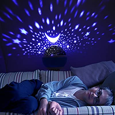 Sunnest Star Projector, Night Lights for Kids, Rotating Baby Night Lighting Lamps, 4 LED Bulbs 8 Modes with 3.2FT USB Cord for Baby/Children/Kids