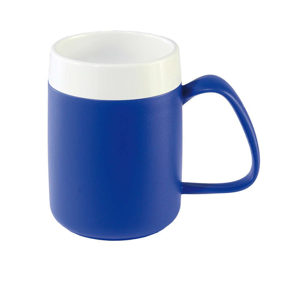 NRS Healthcare Blue/White Thermo Safe Mug (Eligible for VAT relief in the UK) by NRS Healthcare