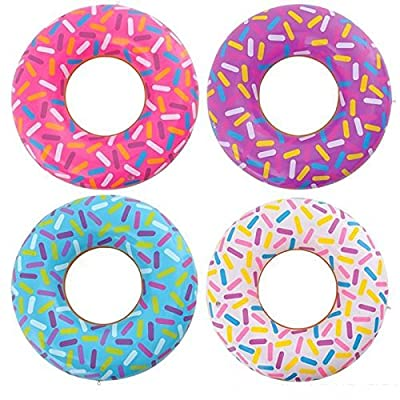 Rhode Island Novelty, Inflatable Donuts (12 Pack): Toys & Games