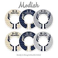 Modish Labels Baby Nursery Divisores para armarios, Organizadores de armarios, Decoración infantil, Baby Boy, Ciervo, Astas, Woodland