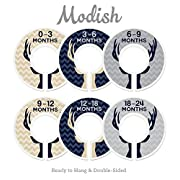 Modish Labels Baby Nursery Closet Dividers, Closet Organizers, Nursery Decor, Baby Boy, Deer, Antlers, Woodland