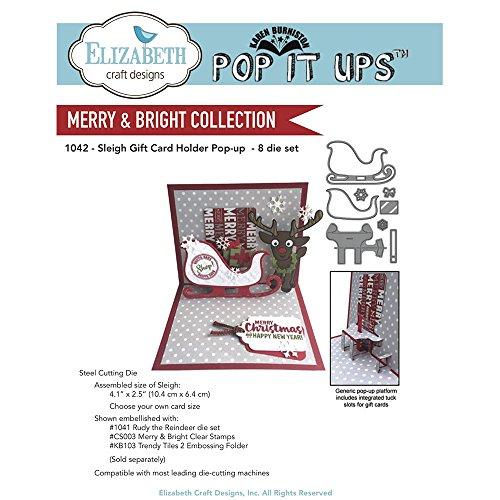 Elizabeth Craft Pop It Up Metal Dies By Karen Burniston-Sleigh Gift Card Holder