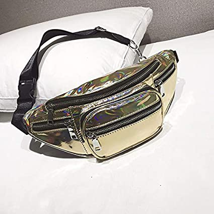 73bf726855ac Image Unavailable. Image not available for. Color  ForShop Belt Bag Waist  Men Casual Fanny Pack Black Waist Packs for Women Pu Leather 2018