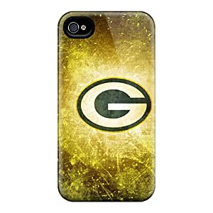 Durable Defender Cases For Iphone 4/4s Tpu Covers(green Bay Packers)