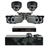 GW Security 5MP (2592x1920p) 8Ch NVR Home Security Camera System - HD 1920p 2.8~12mm Varifocal Zoom Weatherproof (4) Bullet and (2) Dome PoE IP Camera - 5 Megapixel (3,000,000 more pixels than 1080P)