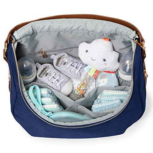 Skip Hop Diaper Bag Tote, Curve Well-Rounded, Navy