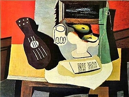 Pablo Picasso guitarra frutas y cristal 1920 Offset Litografía ...