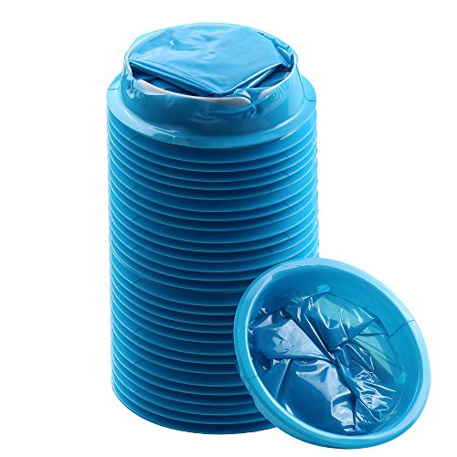 YGDZ Top Quality 30 Pack Blue Emesis Bags Blue Waste Disposal Bags Shipping by FBA -