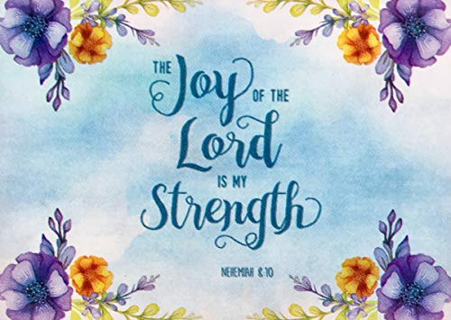 Blissful Living Joy of The Lord Watercolor Vinyl Placemats with Scripture, Set of 4]()