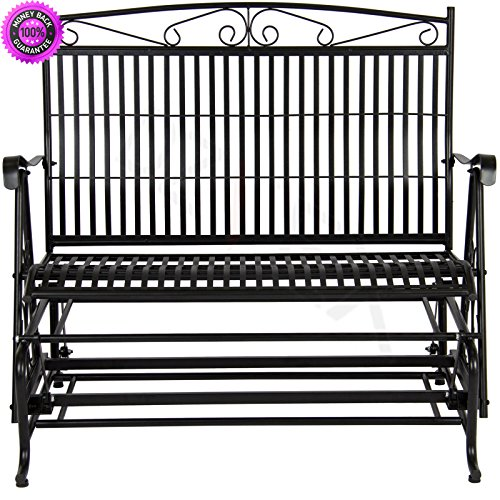 - DzVeX Patio Iron Double Rocker Bench Porch Glider And patio swing patio swing with canopy outdoor swing bed wooden porch swings porch swing porch swing home depot