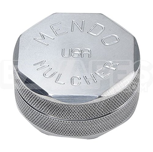 Mendo Mulcher Aluminum Billet 2 Piece Double Grip Grinder (2.25 inch Medium, Aluminum) ()