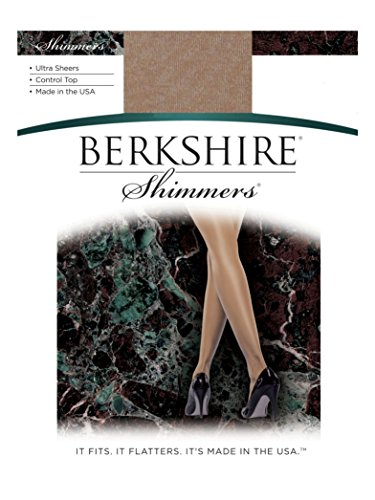 Berkshire Women's Shimmers Ultra Sheer Control Top Pantyhose 4429 - Sandalfoot, Gold, 4