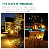 TomCare Solar lights Metal Flickering Flame Solar