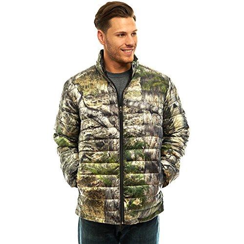 TrailCrest Men's Packable Ultra Lightweight Down Jacket, Outdoor Puffer Coats, Mossy Oak Camo ()