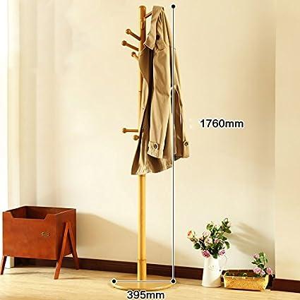 ZWL Perchero de madera maciza Percha de ropa de cama de ...